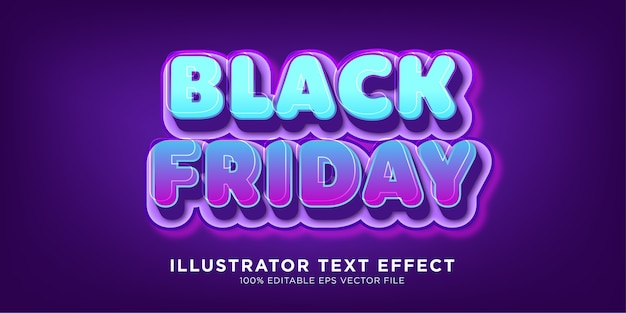 Black friday sale text effect