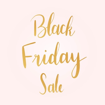 Black Friday sale typography style vector