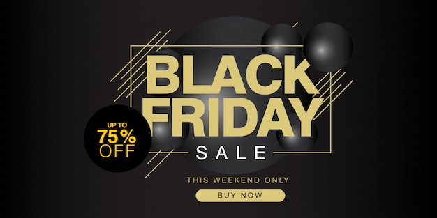Black friday sale up to 75% off banner