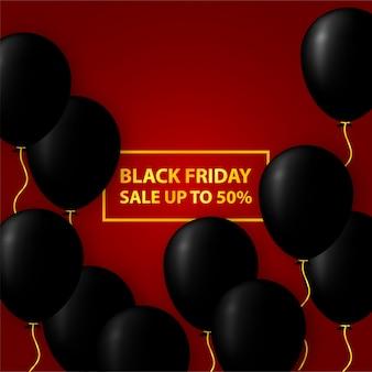 검은 금요일 판매 최대 50 % 배너