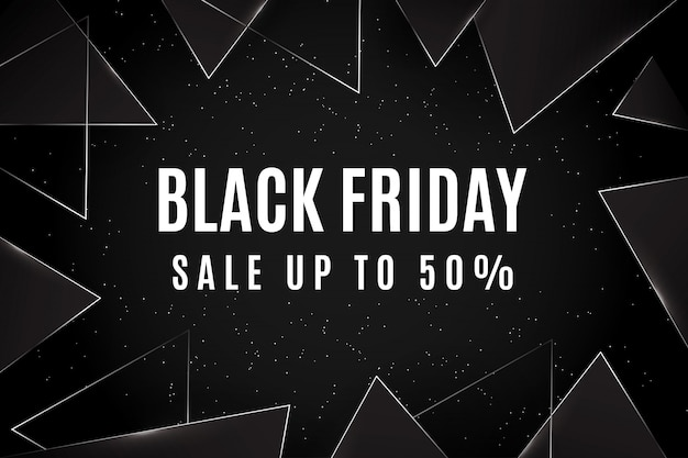 Black friday sale upto 50% triangle themes