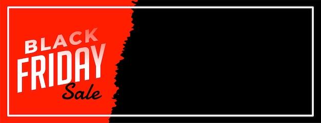 Poster web di vendita venerdì nero per annuncio online
