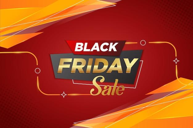 Черная пятница распродажа неделя красный и желтый фон баннер