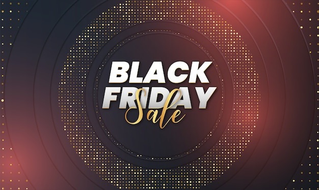 Black friday sale with abstract 3d luxury background
