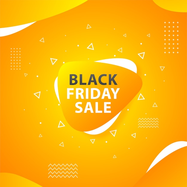 Black friday sale with a cheerful orange color