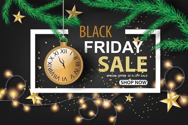 Black friday sale with dark black tone color background
