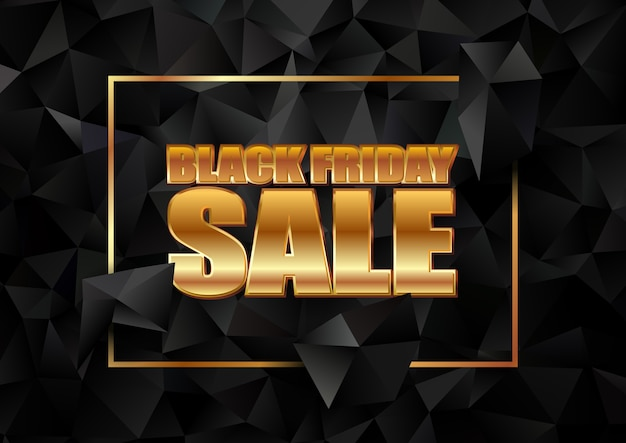 Black friday sale with a dark low poly design
