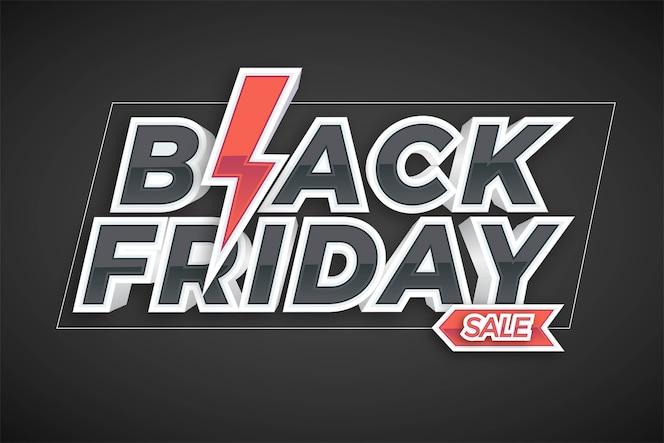 Vendita del black friday con il concetto di effetto per il mercato alla moda di promozione di flayer e banner online