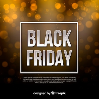 Black friday sale with golden glitter background