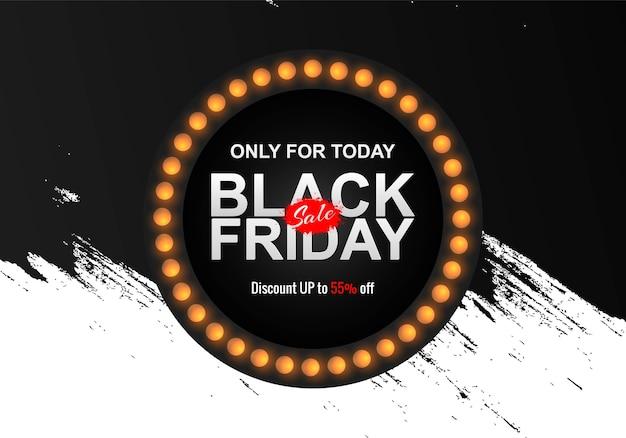 Black friday sale with grunge brush