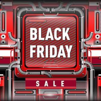 Black friday sale with modern futuristic background