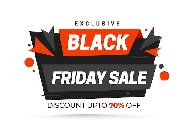 Black friday sale with red   black ribbons on white background