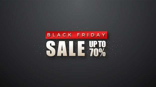 Black friday sale with simple and elegant writing in red and white