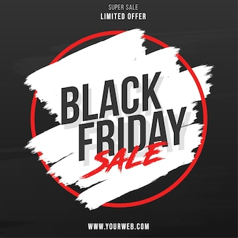 Vendita del black friday con splash banner design