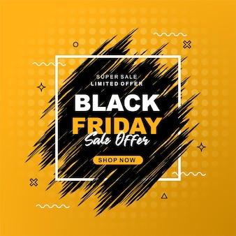 Black friday sale with splash banner design a