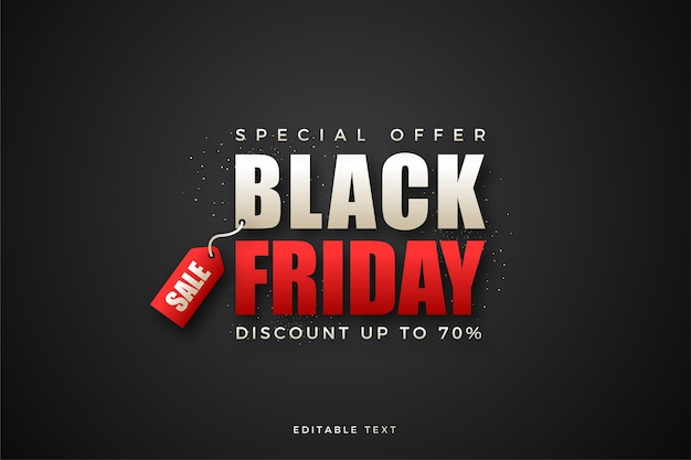 Black friday sale with white and black writing