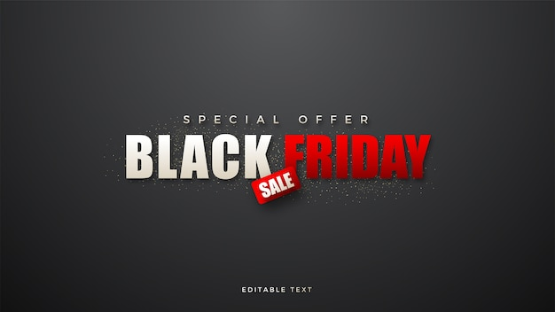 Black friday sale with white and red writing illustration