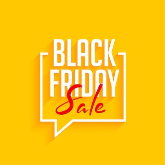 Black friday sale yellow background with speech bubble