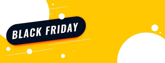 Black friday sale yellow banner with text space