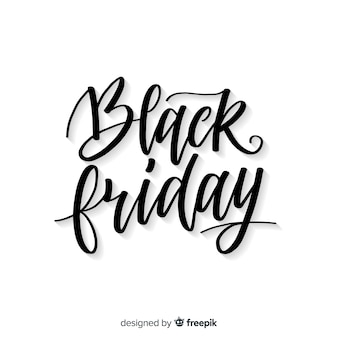 Black friday sales background with typography