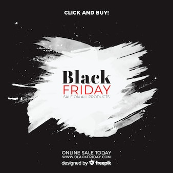 Black friday sales background with watercolor stains
