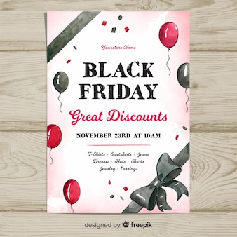 Black friday sales banner template