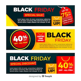 Black friday sales banner templates