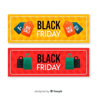 Modelli di banner di vendita venerdì nero