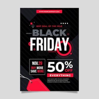 Modello di volantino di vendita venerdì nero