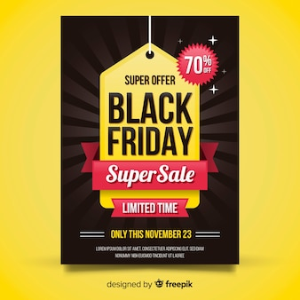 Black friday sales poster template