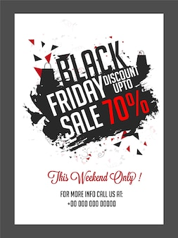 Black friday sales poster
