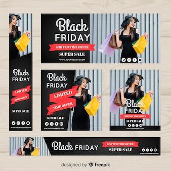 Black friday sales web banner set