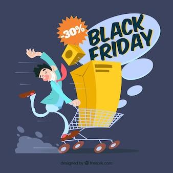 Black friday shopping background