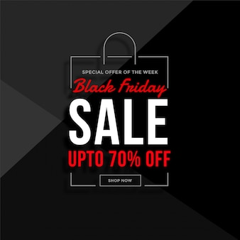Black friday shopping bag sale