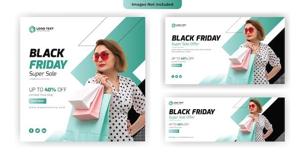 Black friday social media banner template design