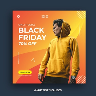 Black friday social media banner template.