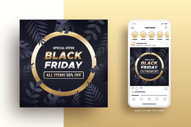 Black friday social media banner