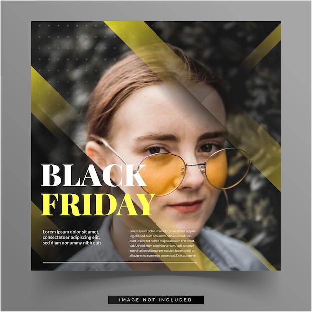 Black friday social media feed template