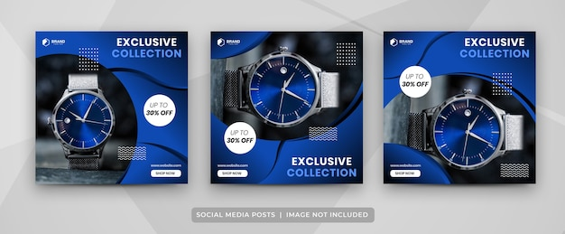Black friday social media post banner template collection