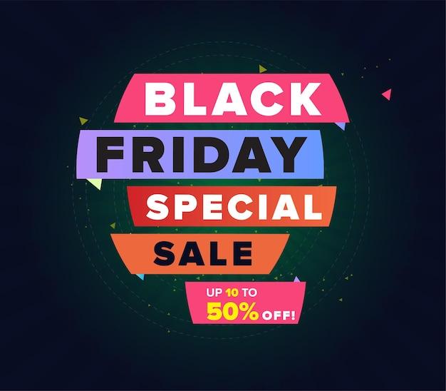 Black friday social media post design or website product banner design or web advert des
