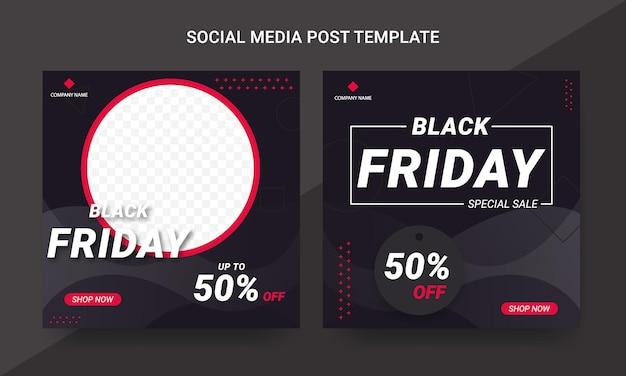 Black friday social media post template set