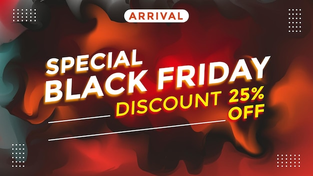 Black friday special discount theme banner template