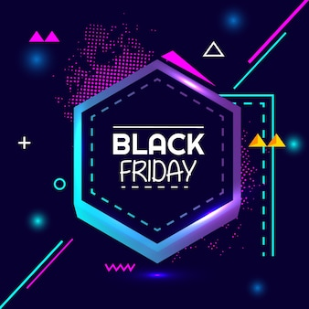 Black friday special flash sale creative geometry banner