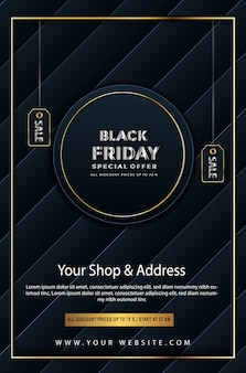 Black friday special offer discount up to poster