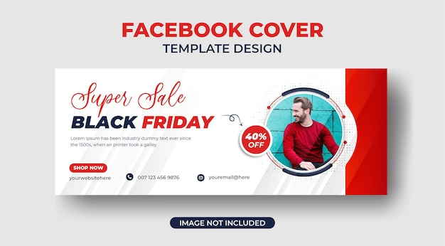 Black friday special offer fashion sale social media cover or web banner template premium vector