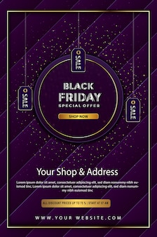 Black friday special offer promotion up to poster