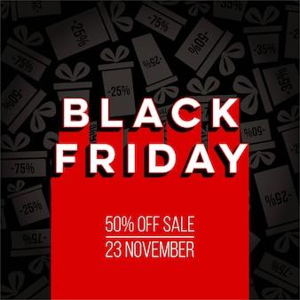 Black friday special offer sale banner background.