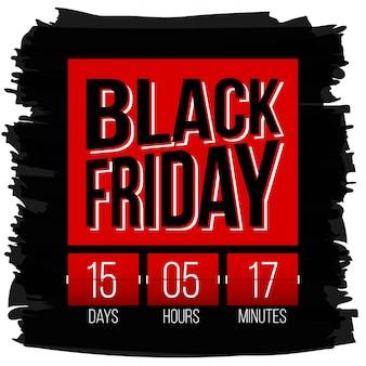 Black friday special offer sale banner background