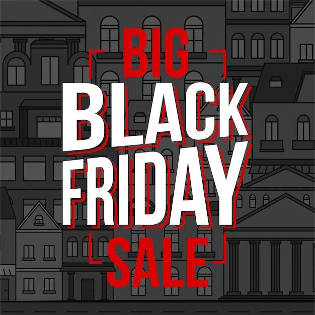 Black friday special offer sale banner.