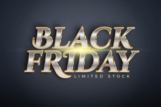 Vendita speciale del black friday con tema effetto